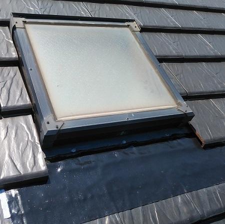 天窓の水切り施工後画像